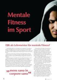 Mentale Fitness im Sport - DJK Sportverband