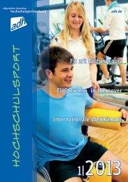 1|2013 - Allgemeiner Deutscher Hochschulsportverband