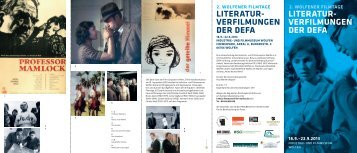 Wolfener Filmtage - PDF - Industrie- und Filmmuseum Wolfen