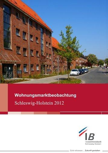 Download Wohnungsmarktbeobachtung Schleswig-Holstein 2012