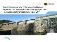 Hochwasserschutzmaßnahmen der LTV als Bestandteil des ...