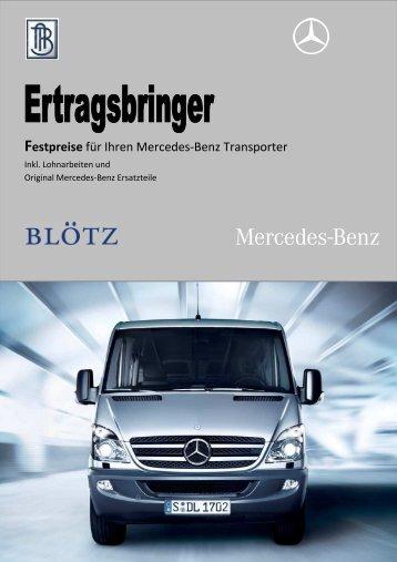 Festpreise für Ihren Mercedes-Benz Transporter