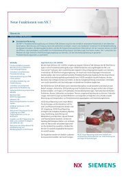 What's new in NX 7 Fact Sheet (German) - ISAP AG