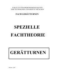 Skript Gerätturnen Fachtheorie - F. Grob 2009