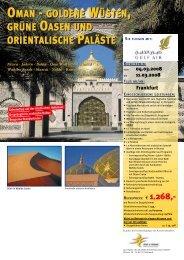 oman - goldene wüsten, grüne oasen und orientalische paläste ...