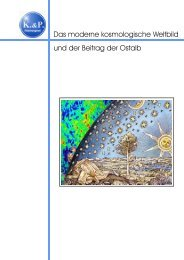 Das moderne kosmologische Weltbild und der ... - Kiesel & Partner