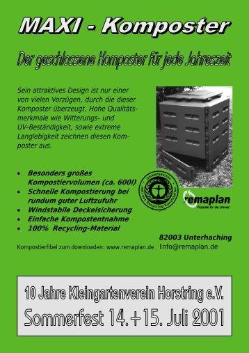 Festschrift 10 Jahre Kleingartenverein Horstring - Kleingarten im ...