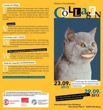 Prospekt mit Details als pdf - Kulturzentrum im Krakauer Haus