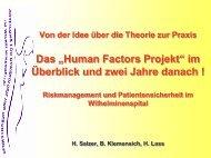 Human Factor – welche Rolle spielt dieser im Risikomanagement?