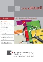 KVNO aktuell 7+8   2013 - Kassenärztliche Vereinigung Nordrhein