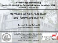 Hormonelle Kontrazeption und Thromboserisiko (PDF, 750 KB) Dr ...