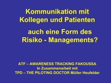 Kommunikation mit Kollegen und Patienten - auch eine Form des ...