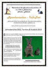 Jahresbericht - Kreisverband der Rassekaninchenzüchter e.V. von ...