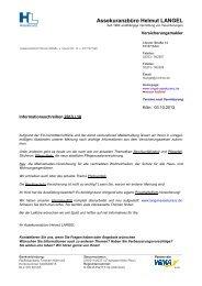 Informationsschreiben 2013/10 - Assekuranzbüro Helmut LANGEL ...