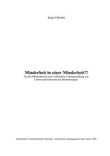Minderheit in einer Minderheit?! - Lesben- und Schwulenverband in ...