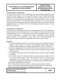 2008 VersBericht ökoGurkenSorten - LVG Heidelberg