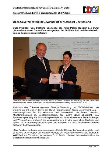 Open Government Data: Gewinner ist der Standort Deutschland