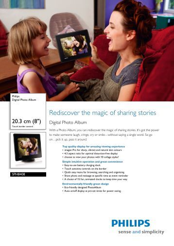 SPH8408/10 Philips Digital Photo Album