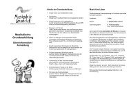 Musikalische Grundausbildung - Musikschule Lennetal