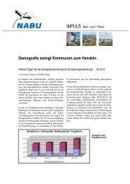 Demografie zwingt Kommunen zum Handeln - Nabu