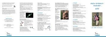 natur-erlebnis- Kalender 2013 - NABU - Kreisgruppe Holzminden