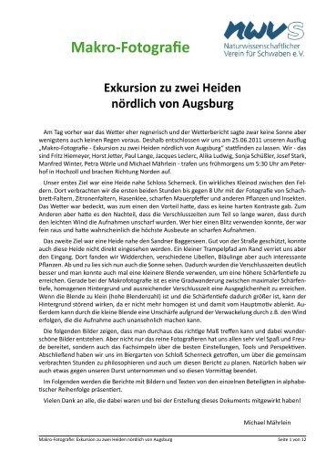 einen ausführlichen Bericht von Horst Jetter, Alika Ludwig, Sonja ...