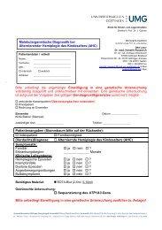 Anforderungsbogen zur molekulargenetischen Diagnostik bei ...