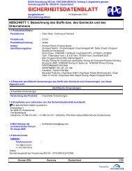 SICHERHEITSDATENBLATT - PPG Industries