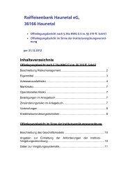 Offenlegungsbericht 2012 - Raiffeisenbank Haunetal eG