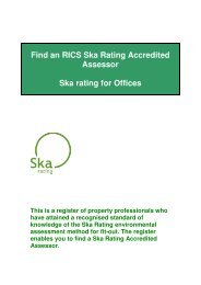 Find an RICS Ska Rating Accredited Assessor Ska rating for Offices