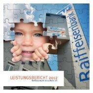 Leistungsbericht 2012 (1,8 MB) - Raiffeisenbank Schaafheim eG