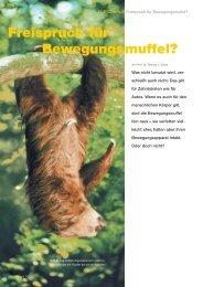 Freispruch für Bewegungsmuffel - Thomas J. Schult