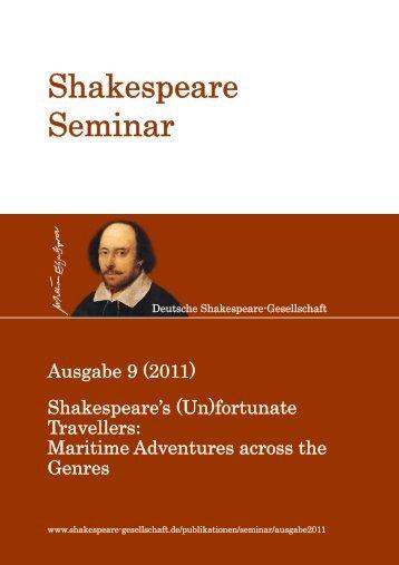 Shakespeare Seminar - Shakespeare-Gesellschaft