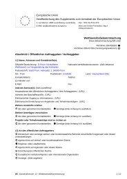 Wettbewerbsbekanntmachung - Nichtoffener Wettbewerb nach VOF ...