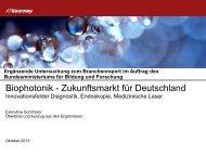 Biophotonik - Zukunftsmarkt für Deutschland - Spectaris