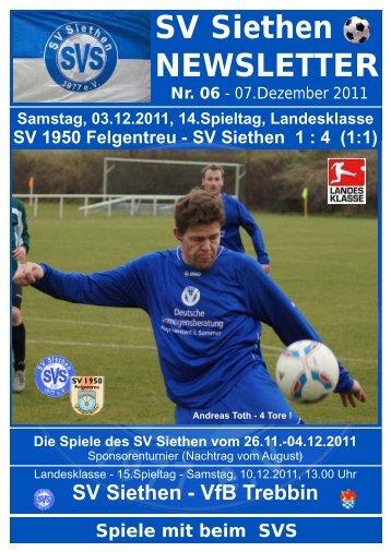 Newsletter 06 07.12.2011 - SV Siethen