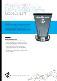 accubalance® hotte de mesures de débit d'air (balomètre) - TSI