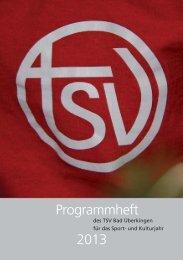 Programmheft 2013 - TSV Bad Überkingen 1889 eV