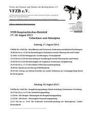 Programm und Teilnehmerpferde des Berbertreffens