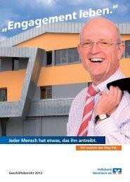 Geschäftsbericht 2012 der Volksbank Weinheim eG