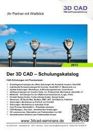 Schulungskatalog 2013 - 3D CAD GmbH