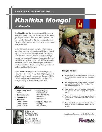 Khalkha Mongol in Mongolia