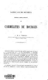 Rapport sur les documents concernant l'ancienne communaute des ...