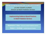 Division of Adult Probation Services - Nineteenth Judicial Circuit