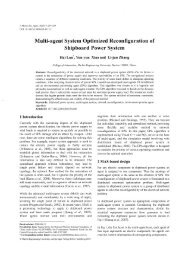 Multi-agent System Optimized Reconfiguration of Shipboard Power ...