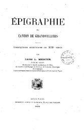 Epigraphie du Canton de Grandvilliers - Bibliothèque numérique de ...