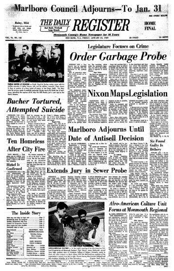 Bueher Tortured, Attempted Suicide Marlboro Adjourns Date of ...