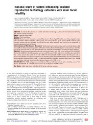 National study of factors influencing assisted reproductive ...