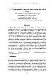 Produktionsplanung zwischen Autonomie und  ... - Goethe-Universität
