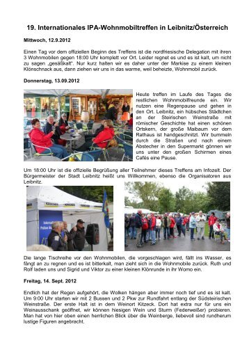 19. Int. Wohnmobiltreffen in Leibnitz - Ipa-nordfriesland.de